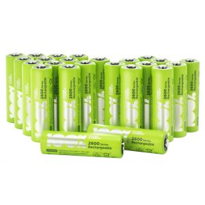 AA Rechargeable 2600 Series 100%PeakPower NiMH Batteries - Pack of 24